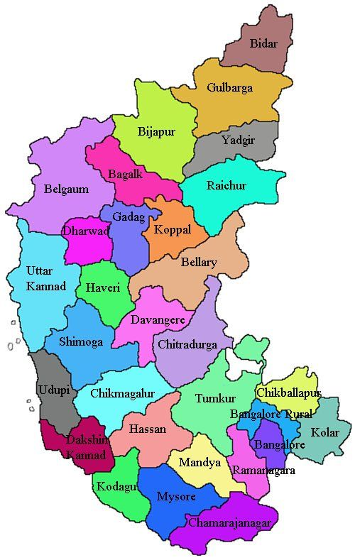 Karnataka district list