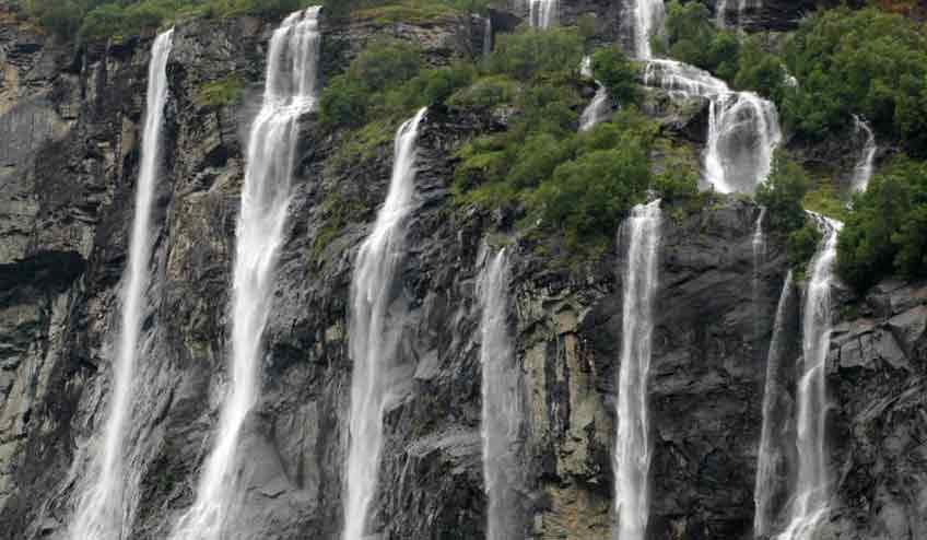 Seven Sisters Water Falls in sikkim