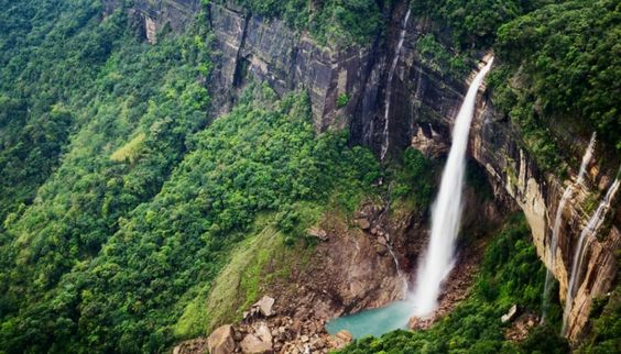 Nohkalikai Waterfalls Cherrapunjee